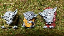 Troll Statue, Garden decor, Fairy doors, for fairy gardens Troll clan of 3