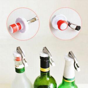 2X Steel Wine Bottle Stoppers Plug Sparkling Champagne Sealer Kitchens