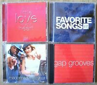 GAP 4 CD Bundle Fave Songs Put Love Heart Grooves Madonna Missy Promos 1996-2005