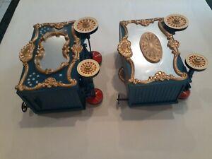 Bachmann 2 blue circus wagons g gauge
