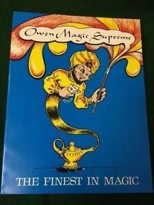 OWEN MAGIC SUPREME Catalog #9 1976 124 pp. apparatus New/Old stock