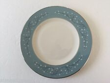 "Syracuse China MINUET Off White Leaves On Blue Rim - 8"" SALAD PLATE"