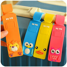 Cute Animals Lion Penguin Panda Duck Luggage Tags Kids Holiday Suitcase Labels