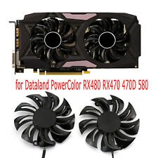 1PC Dual Graphics Card Cooling Fans for Dataland PowerColor RX480 RX470 470D 580