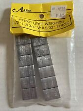 """A-Line Lead Weights All Scale #13001 New In Package 1/2"""" X 3/4"""" X 5/32"""" Thick"""