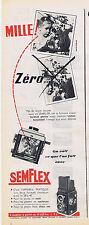 PUBLICITE ADVERTISING 084 1956 SEMFLEX appareil photo 1