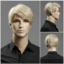 Men's short blonde hair wig wig male European and American popular Made in China