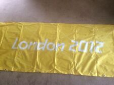 LONDON OLYMPICS 2012 Sign Banner Barrier Cover Olympic Memorabilia yellow