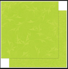 BoBunny 12x12 papel scrapbooking Doble Dot, Kiwi florecer X 2 Hojas