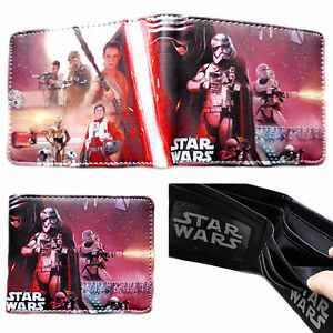 STAR WARS GALACTIC EMPIRE LOGO BLACK BIFOLD WALLET PHOTO HOLDER FAUX LEATHER NWT