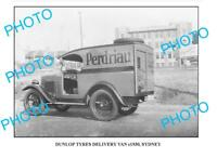 OLD LARGE PHOTO OF DUNLOP TYRES DELIVERY TRUCK c1930 1