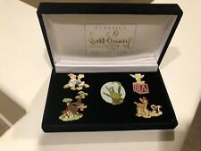 WDCC Retired Sculptures Pin Set, Bambi, Field Mouse, Wolf, Tink & Donald 7 Daisy