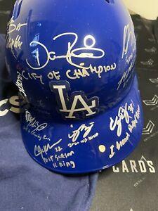 Auto 13/20 Los Angeles Dodgers Betts, Seager Batting Helmet PSA/DNA COA