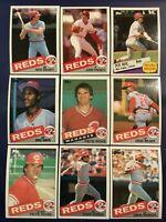 1985 Topps CINCINNATI REDS Complete Team Set 29 ROSE, ERIC DAVIS ROOKIE Look !