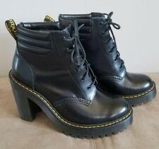 Dr Doc Martens Airwair Persephone Black Womens Heeled Boot Size 6 US,  EUC!
