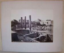 1860ca TEMPIO SERAPIDE POZZUOLI Robert Rive n.106 fotografia albumina 25x20cm