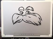 """Lorax Dr Seuss children story book character car truck decal sticker 6"""" Black"""