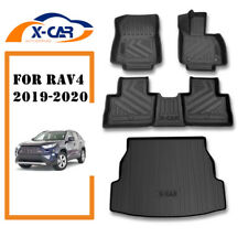 Toyota Rav4 Rav 4 2019-2020 All Weather Floor Rubber Carpet Boot Cargo Mat Set