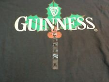 Men's Guiness Beer Official Merchandise Short Sleeve T Shirt Black XL K3