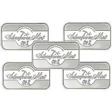 SilverTowne Mint Signature 1oz .999 Fine Silver Bar LOT of 5