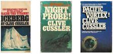 Clive Cussler lot of 3 Dirk Pitt Novels Iceberg, Pacific Vortex & Night Probe