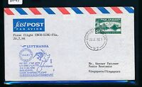 66484) LH / ANZ FF Christchurch New Zealand - Singapore 20.7.98, cover