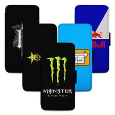 Energy Drinks Buzz Flip Phone Case Cover Wallet - Fits Iphone 5 6 7 8 X 11