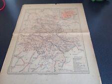 Ancienne carte du departement 87 Haute Vienne Malte Brun Debut années 1900