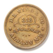 D L Wing & Co, Union Flour Fuld Ny Albany 10H-1a Xf R2 1863 Civil War Store Card