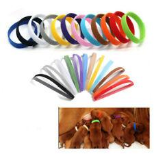 12 Colours Puppy ID Collars Whelping Dog Band Newborn Soft Fabric Identification