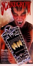 "Classic Deluxe ""DOUBLE"" Vampire Fangs Scarecrow® - Halloween/Theater/Special FX"