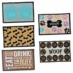 Pet Food Feeding Mat Machine Wash Non Slip Cat Food Dog Food Different Colours