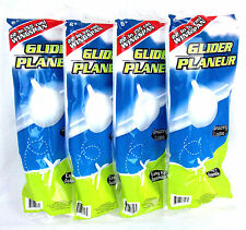 "Lot of 4 Foam Super Glider Planes 22"" Wingspan Hand Launched Easy Set Up Loops"