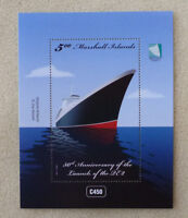 2017 MARSHALL ISLANDS 50th ANNIV LAUNCH OF THE QE2 STAMP MINI SHEET MINT
