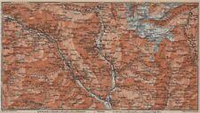 MONTE DI SOBRIO LEVENTINA BLENIO TICINO. San Bernardino Olivone Faido 1913 map