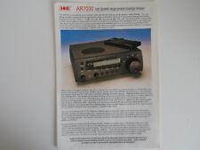 AOR 7030 (solo opuscolo ORIGINALI)... RADIO _ Trader _ Irlanda.