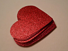 Red Glitter Valentine Hearts  for table decorating at special occasions