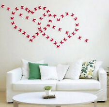 red 12pcs 3D DIY Wall Sticker Stickers Butterfly Home Decor Room Decorations hs