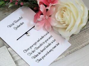 Godmother Wish Bracelet Gift Tibetan Charm Anklet Heart Charm Friendship Family