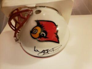 Deion Branch Autographed Louisville Mini Helmet JSA Witnessed