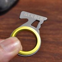 Useful Mini Steel Single Finger Ring Cutting Pocket Knife Keychain Survival Tool