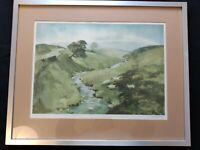 """Signed print, titled """"From Leyburn to Reeth, Swaledale"""" by SAM CHADWICK"""