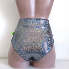 Schminke: hologram dance briefs festival high waist bottoms pants stage clothing