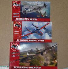 Airfix 1/72 Aircraft Bundle / Job Lot - Me262, Wildcat, DH Vampire