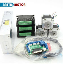 3 Axis Nema23 Stepper Motor 165oz-in 1.1N.m 2.5A & DC TB6600 Driver 4A CNC kit
