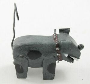 Metal Grey and Black Dog with Spike Collar Photo Holder