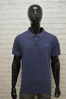 THE NORTH FACE Polo Maglia Uomo Taglia XL Maglietta Shirt Herrenhemd Cotone Blu