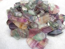 FLUORITE 15-25mm Rainbow, blue, purple, etc. tumbled 1/2 lb bulk stones