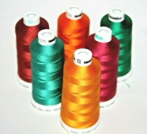 Madeira Classic No. 40 Machine Embroidery Thread 100% Viscose 1000m 6 Colours