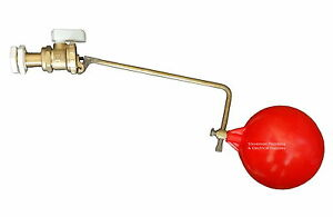 """1/2"""" Part 2 Ball-cock / Float Valve With Float BS1212/2 Brass High Pressure"""